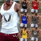 Mens Vest Tank Tops Gym Bodybuilding Stronger Fitness Shirts Muscle Workout Tee