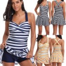 Women Beach Dress Strappy Tankini Summer Beachwear Swimsuit Swimwear Cover Up With Boyshorts