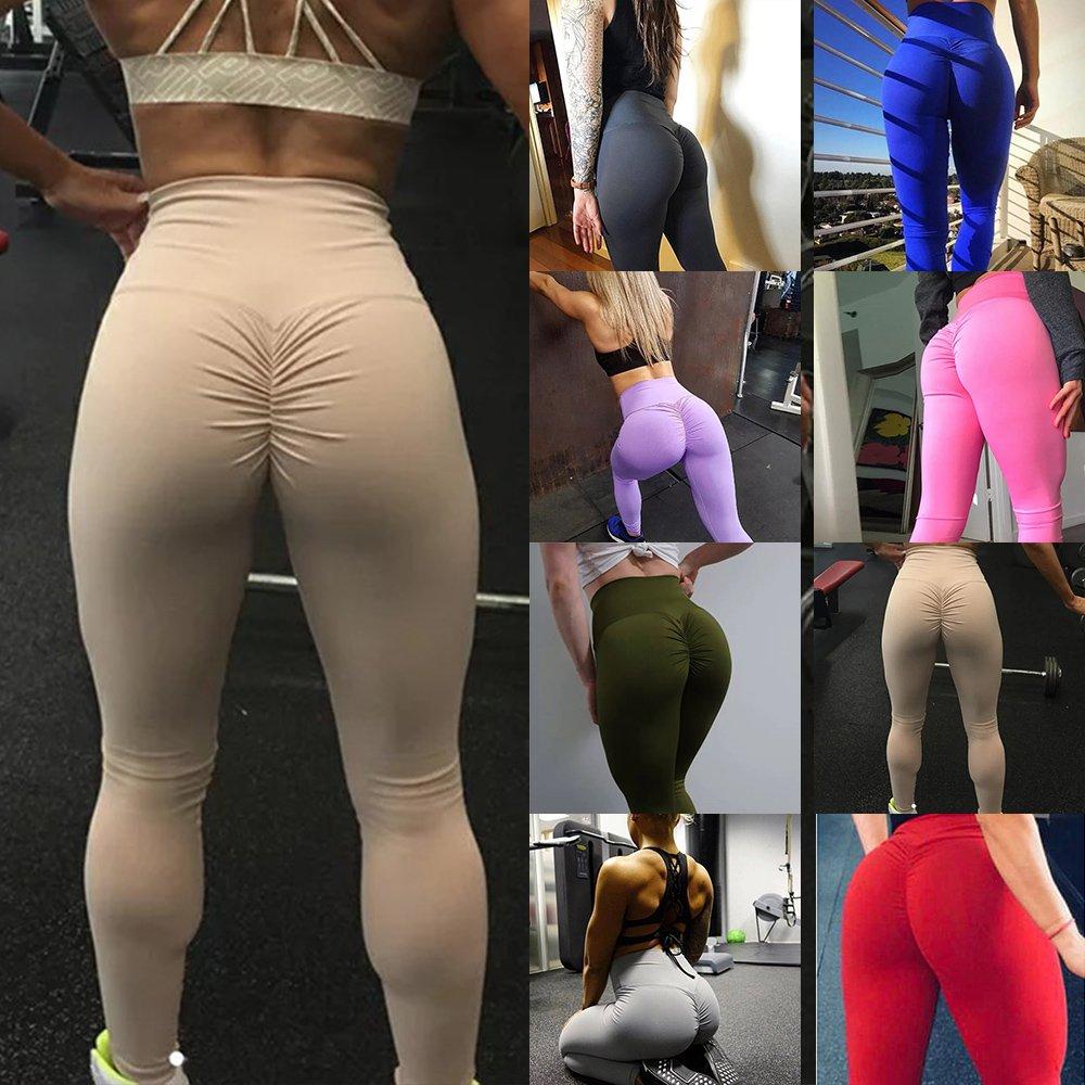 Women PUSH UP Yoga Leggings Pilates Pants Fitness High