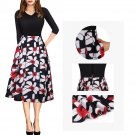 Autumn Casual Dress For Women 3/4 Sleeve Streetwear Party Dresses
