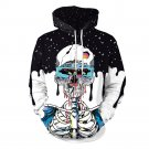 Lover's Clothes for Halloween Couples Punk Skull Printed Mounted Hoodies His-and-hers Streetwear