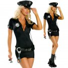 Plus Size XL-3XL Police Costume for Women Halloween Cosplay Sexy Fancy Dress with Hat
