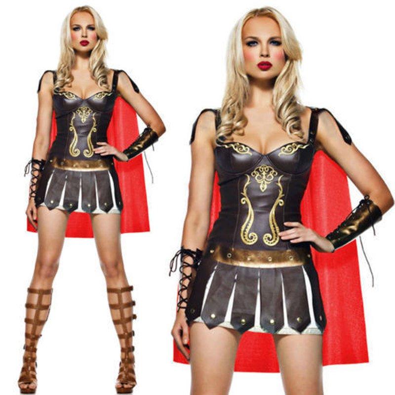 Ancient Greek Mythology Warrior Gladiator Halloween Uniform Medieval Spartan Warrior Costume