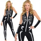 2020 Skeleton Print Jumpsuits Carnival Fancy Dress Funny Melbourne Corpse Day Halloween Costume