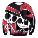 Lover Clothes Fashion Streetwear for Halloween Skull Print Couples Mounted Hoodies