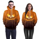 Halloween Lover Clothes for Couples Mounted Pumpkin Monster Lantern Hoodies Streetwear with Hat