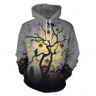 Halloween Horror Forest Print Tops Lover Clothes Couples Mounted Streetwear Pumpkin Hoodies