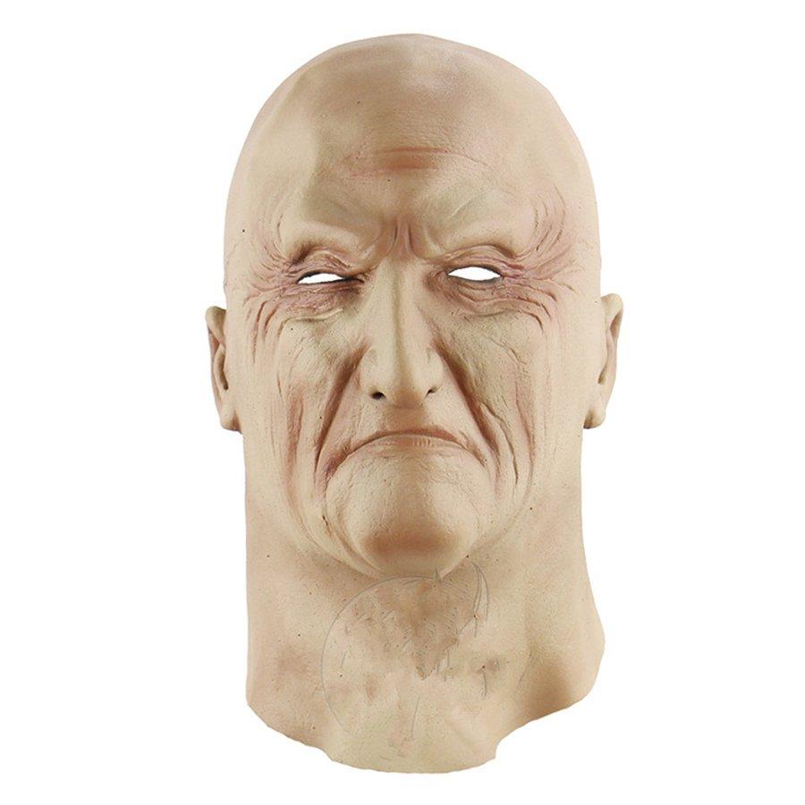 Halloween Melbourne Corpse Day Scary Horror Boss Latex Full Headgear Old Man Mask