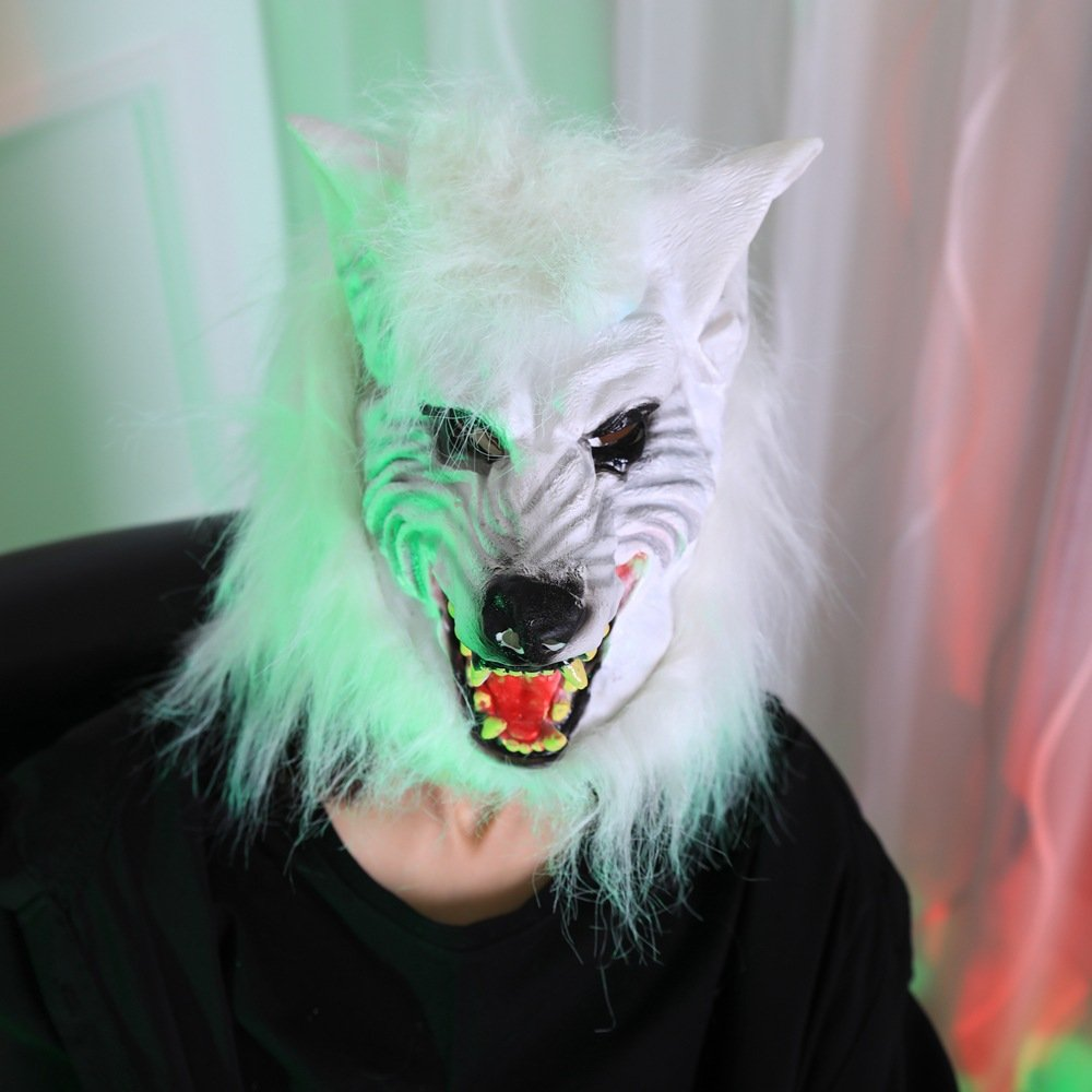 Scary Cosplay Full Head Party Wolf Headgear Halloween Devil Masquerade Mask Costume Accessories