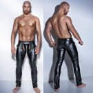 Men Leather Fetish Pants Skinny Sexy PVC Trousers For Club