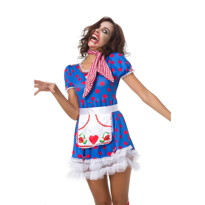 Halloween Evil Maid Fancy Dress Horror Cosplay Melbourne Zombie Festival Costumes for Women