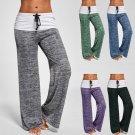 Casual Loose Dance Leggings Wide Leg High Waist Stitching Pilates Leggings Yoga Pants