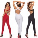 Fitness Clothing Women One-pieces Sports Suit Workout Jumpsuit Pants Sexy Yoga Bandage Gym Bodysuit