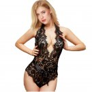 Ladies Sexy Lingerie European Beauty Valentine's Day Eyelash Lace Erotic Bodysuit