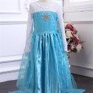 Children Princess Elsa Frozen Cosplay Costumes Kid Elsa Fancy Dress For Halloween