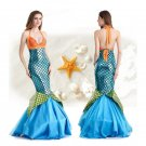 Halloween Mermaid Princess Costume DS Fancy Dress Cosplay Uniform Adult Stage Wear