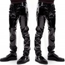 Wet Look Patent Leather Men's Trousers Bar Nightclub Erotic Underwear Stage Performance Club Pants