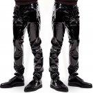 Wet Look Patent Leather Men's Trousers Bar Nightclub Erotic Underwear Stage Performance Club Pants