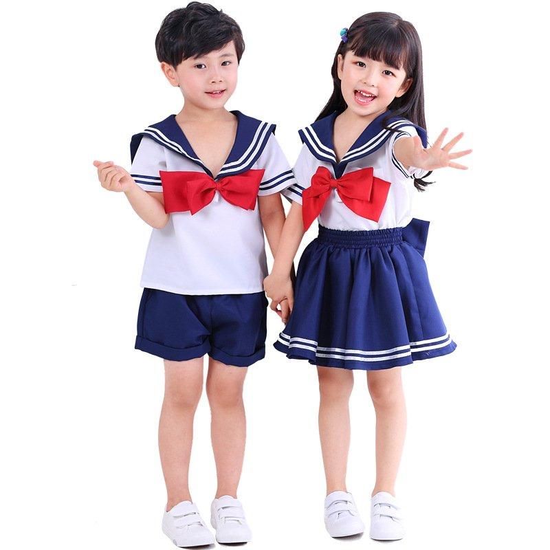 Naval Japanese Kid Sailor Suit Children School Uniform JK Costumes Warrior Cos Costume