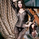 4 Colors Erotic underwear Jacquard Female transparent Bodystockings lace Sexy stockings Uniform