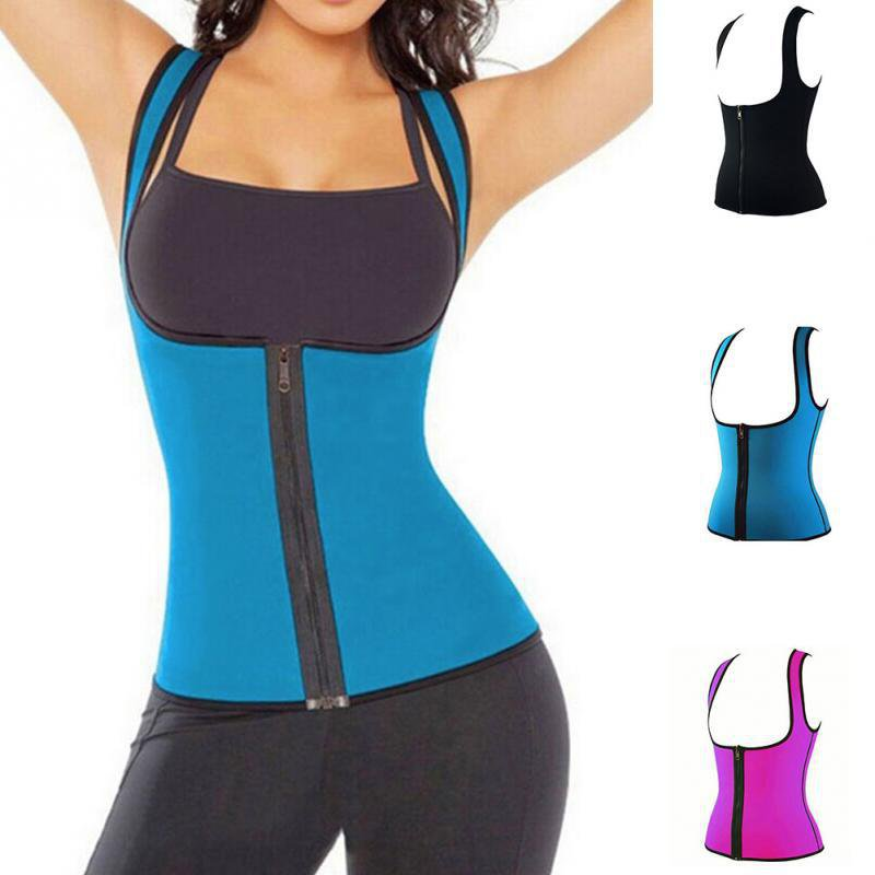 Plus Size Body shaping Wear women's sports sweating waist shirt Neoprene Abdominal Fitness corsets