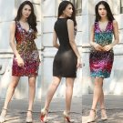 Sexy Tight Buttocks Sequin Cocktail Dress Sleeveless Celebrity Party Dress Club Skirt