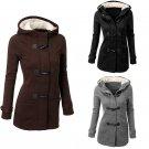 5 Colors Women Fashion Coat Pocket Hooded Long Sleeve Velvet Jackets Female Winter Outwear