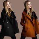 Plus Size Fashion Wool Blend Jacket for Women Winter Woolen Coat Autumn Pockets Streetwear