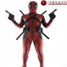 Child Superhero Deadpool Fancy Dress Halloween Jumpsuit deadpool cosplay costume for kids