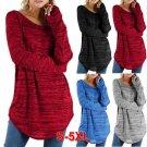 5 Colors Women Autumn Round Neck Blouse Long Sleeve Plus Size Casual T-shirt