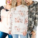 Floral Print Winter Hoodies Long Sleeve Sweater Fashion Autumn Hooded Sweatshirts