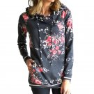 Floral Print Winter Tops Novelty Streetwear Autumn Hooded Sweatshirts