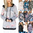 10 designs Irregular Neck Hip Pop Streetwear Floral Print Spring Blouses Autumn Casual Hoodies