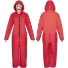 Spain TV Series La Casa De Papel Costume Adult Prop Suit Halloween Red Cosplay Carnival Jumpsuit