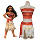 Cartoon Movie Role Adult Moana Cosplay Costume Sexy Women Carnival Uniform Theme Costume
