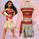 Child Moana Cosplay Uniform Kid Carnival Fancy Dress Cartoon Movie Role Theme Costume