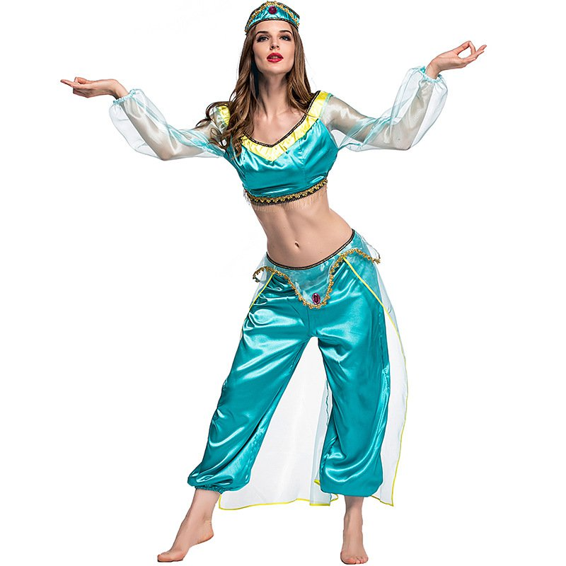 Club Performance Clothing Anime Uniform Arabic Cosplay Costume Middle Eastern Arab Girl Fancy Dress