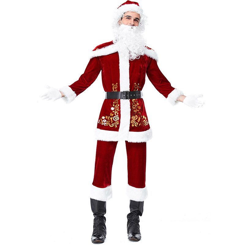 Spun Velvet Christmas His-and-hers Clothes Santa Claus Party Cosplay Costume Lover Clothing