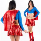 Sexy American Anime Role Supermen Cosplay Costume Super Hero Uniform for Carnival Party