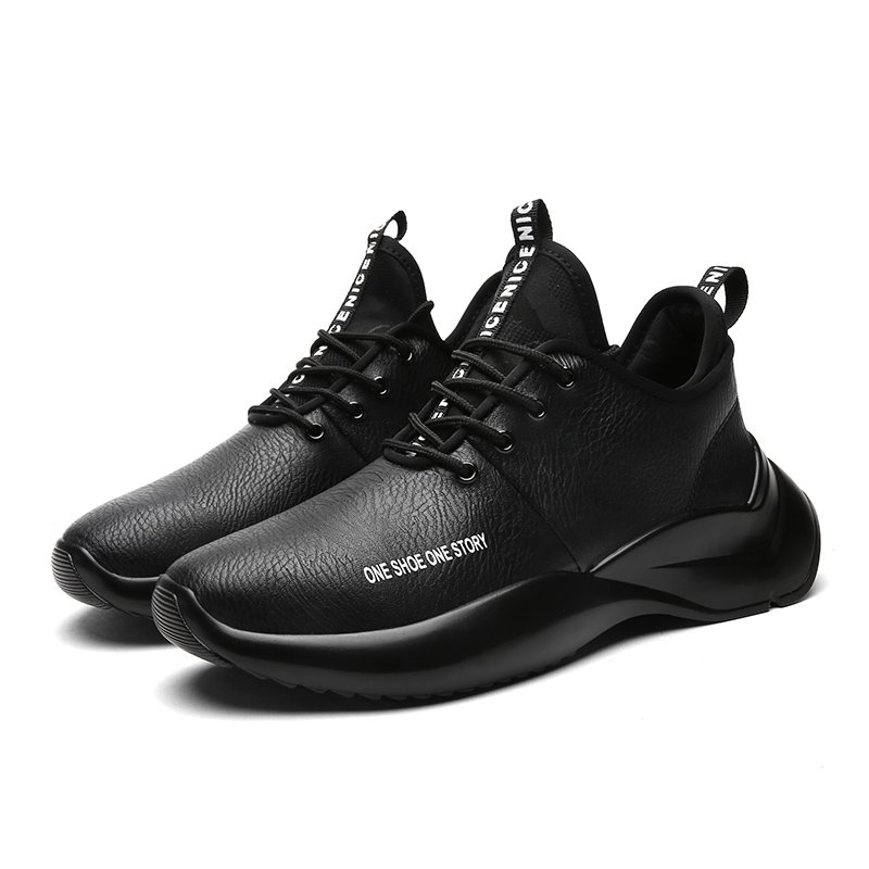 Men's Athleisure Street Dance Shoes Outdoor Trainers Leather Anti-Slippery Walking Sneakers