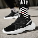 Mr Smile Brand Leather Patchwork Sneakers Men Street Fashion Winter Sport Shoes Hip Pop Shoes