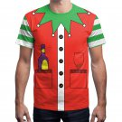 Red Xmas Santa Claus Print Male Tops Christmas Men T-Shirts Unisex Novelty Tees
