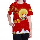 Christmas Women Santa Claus Blouses Unisex Female Xmas T-Shirts Autumn Fashion Ladies Tops