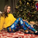 Christmas Gift Skinny Pants Casual Printing Capris Slim Leggings Chic Santa Trousers  Xmas Tights