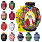 13 Colors Women Christmas Hoodies Santa Claus 3D Print Sweaters Xmas Sweatshirts