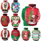 Christmas Couples Sweaters Women Casual Sweatshirts Unisex Santa Claus Digital Printing Hoodies