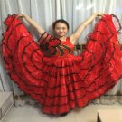 Plus Size Flamenco Dress Spanish Matador Dance Dress Gypsy Clothes Opening Performance Costume