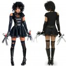 Black Faux Leather Carnival Cosplay Uniform Movie Star Role Edward Scissorhands Costume