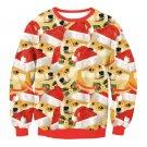 Single Dog Print Christmas Winter Hoodies Fashion Streetwear Long Sleeve Novelty Tops