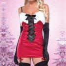 Faux Fur Lace Up Spaghetti Straps Christmas Party Dress Sexy Miss Santa Fancy Dress X-mas Outfit